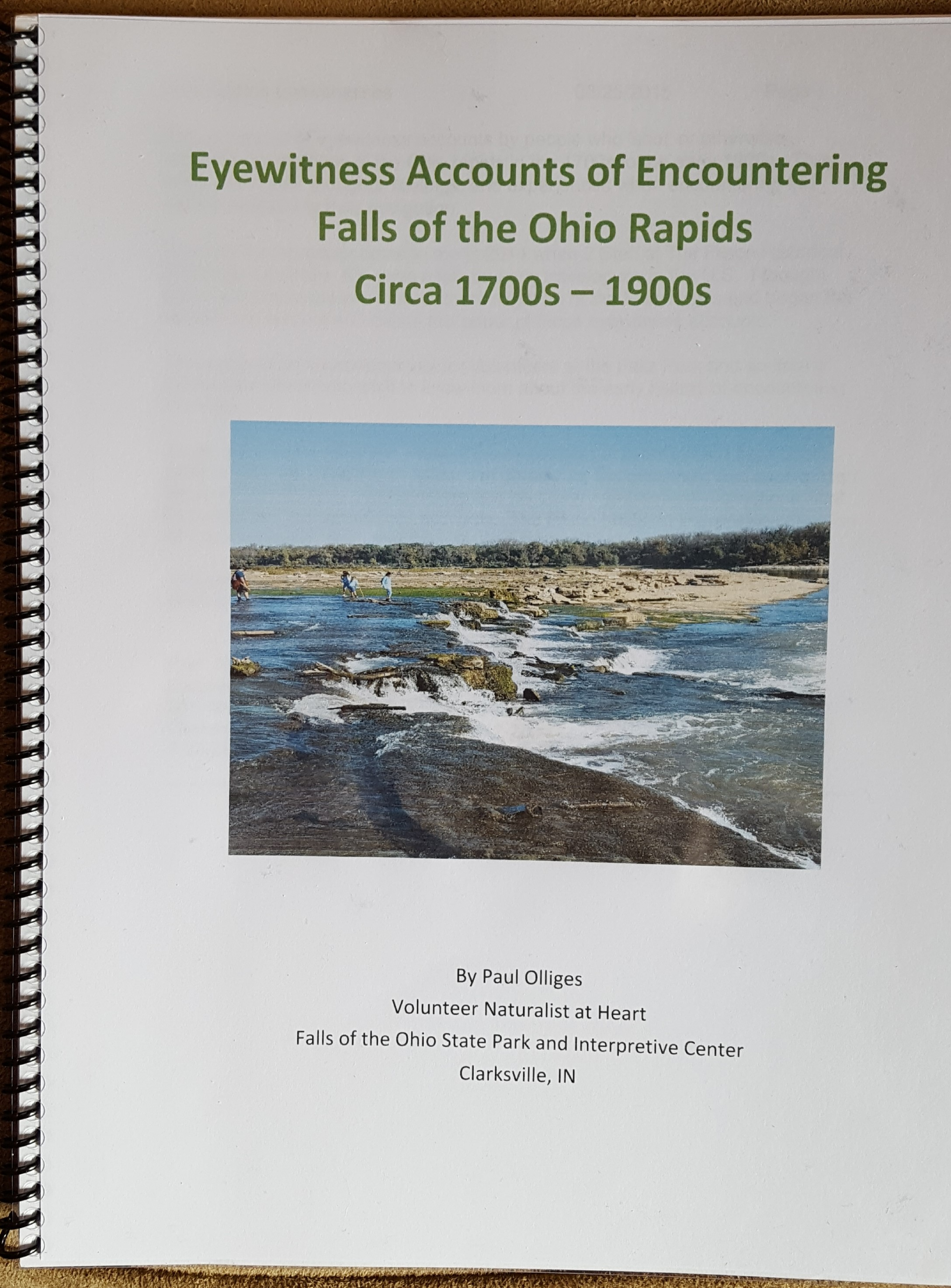 Eyewitness Accounts of Encountering Falls of the Ohio Rapids